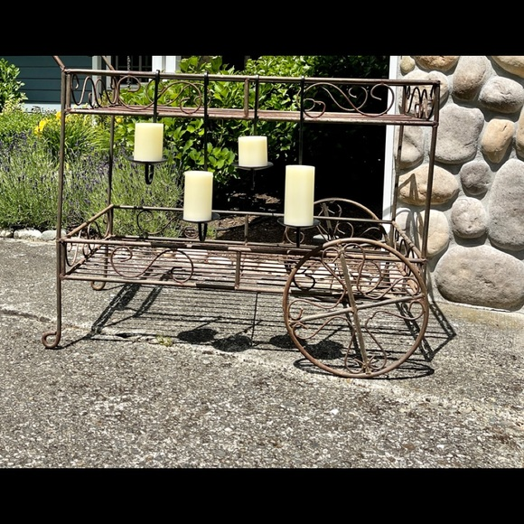 Pottery Barn Hanging Iron Candle Holders